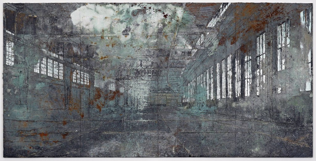 Anselm Kiefer Tempelhof 2010-11 Oil, acrylic, terracotta and salt on canvas 149 5:8 x 299 3:16 in. (380 x 760 cm) © the artist Photo- Ben Westoby Courtesy White Cube