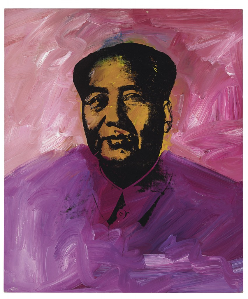 Andy Warhol (1928-1987) Mao, signed and dated 'Andy Warhol 73