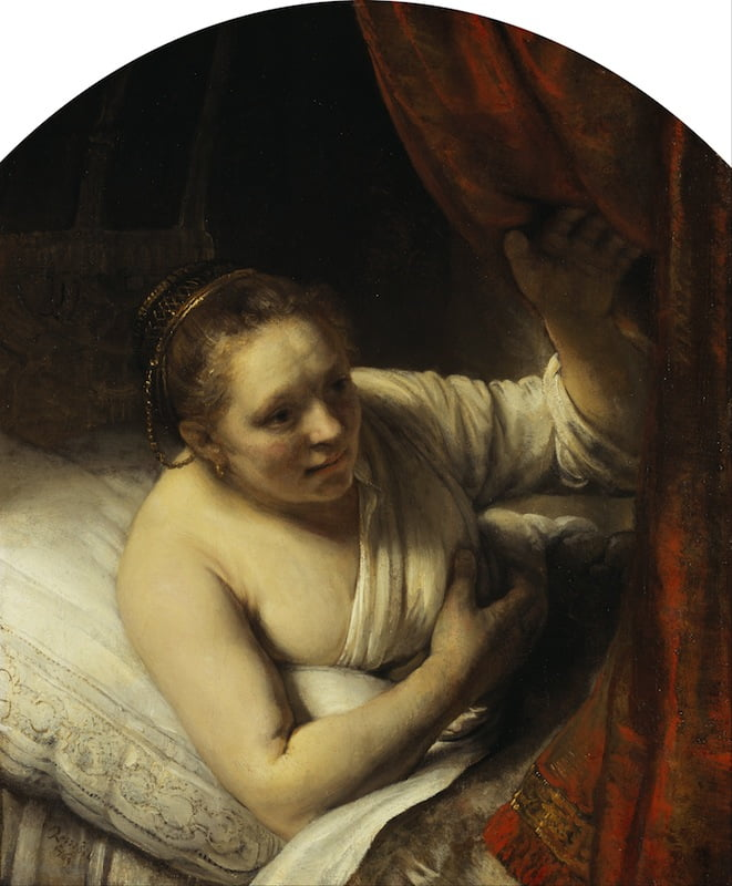 'A Woman in Bed', c. 1645–46, Rembrandt van Rijn (1606–69). Scottish n National Gallery, Edinburgh