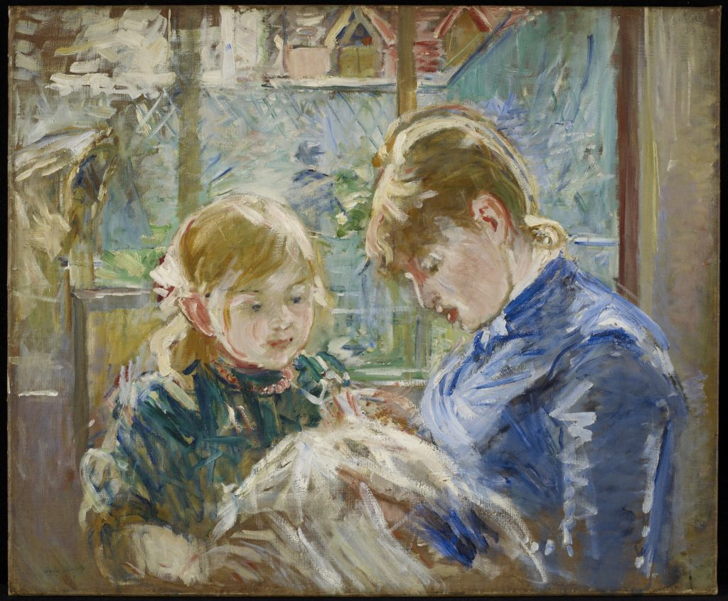 Berthe Morisot, French, 1841 - 1895; The Artist's Daughter, Julie, with her Nanny; c. 1884; Oil on canvas; 22 1/2 x 28 in. (57.15 x 71.12 cm) (sight); Minneapolis Institute of Art; The John R. Van Derlip Fund 96.40