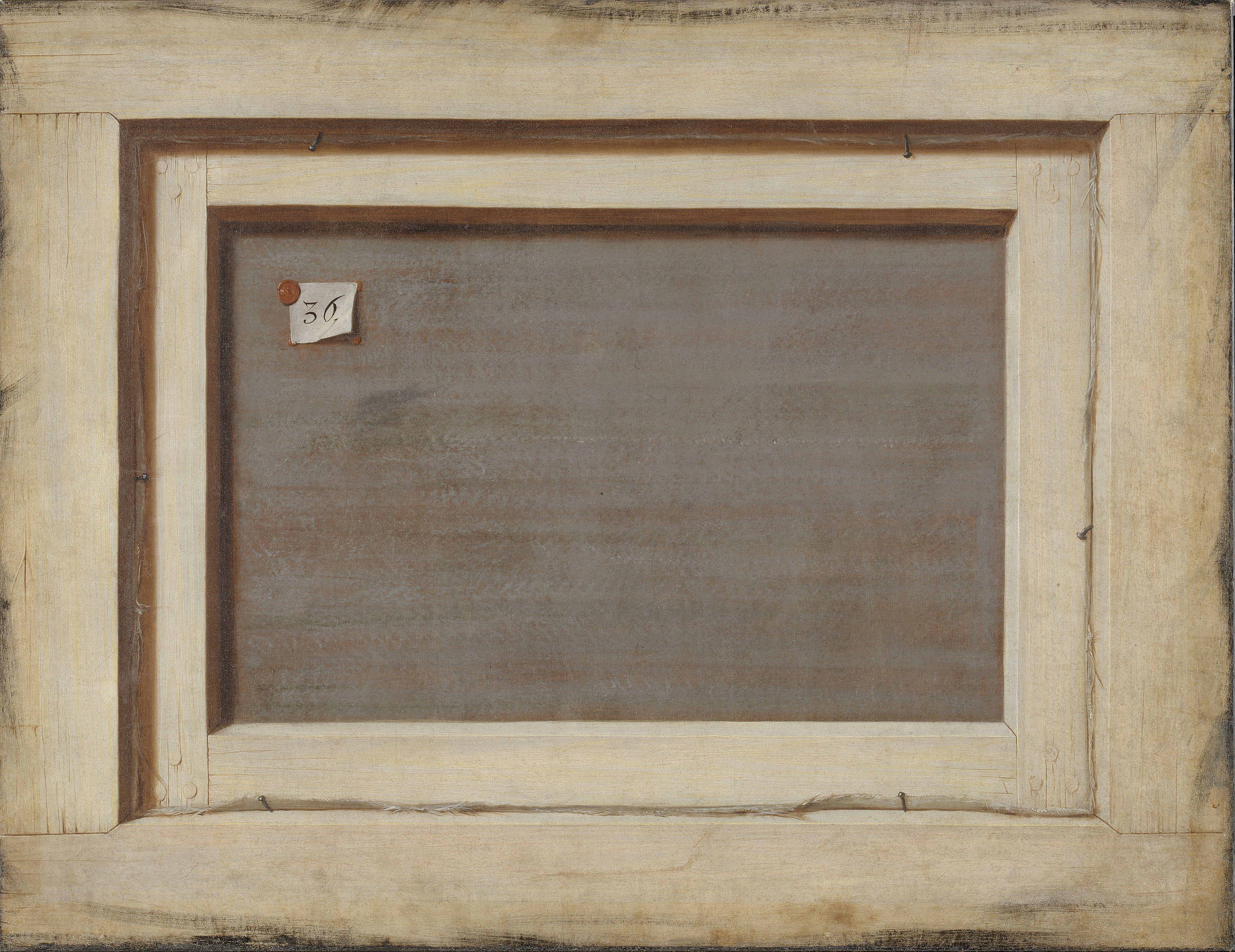 Cornelius Norbertus Gijsbrechts Trompe loeil. The Reverse of a Framed Painting