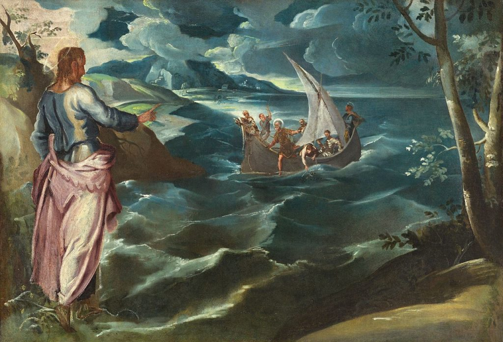 Tintoretto,_Jacopo_-_Christ_at_the_Sea_of_Galilee c. 1575 - 1580