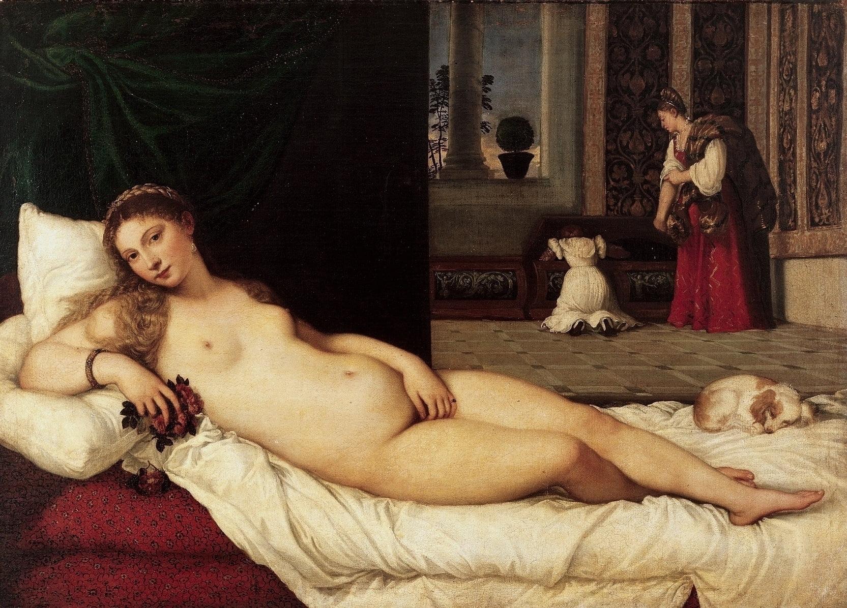 Titians reclining Venus 1538
