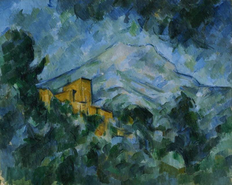 Paul Cézanne, Mont Sainte-Victoire yChâteau Noir, 1904 - 1905, Bridgestone Museum of Art, Tokyo, Japan.