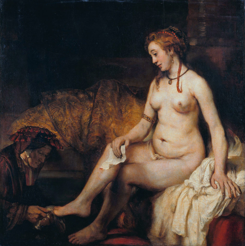 Bathsheba with David's letter *oil on canvas *142 x 142 cm *signed b.l.: Rembrandt. f. 1654