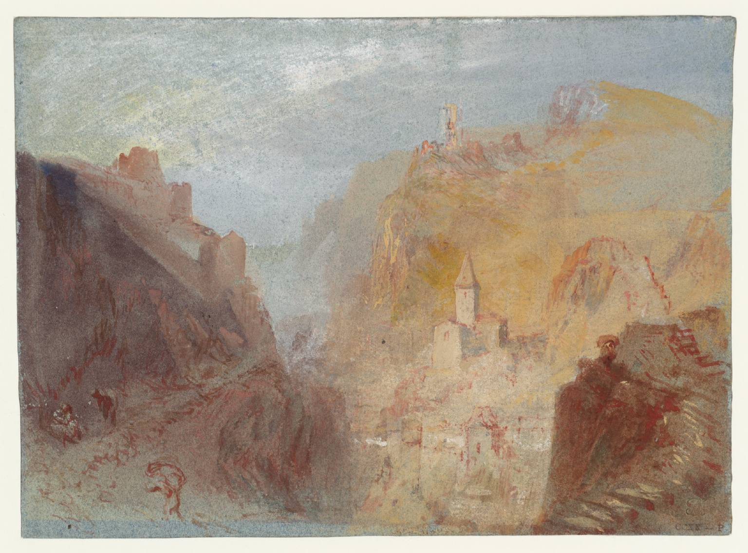 Joseph Mallord William Turner Trarbach from the South c.1839