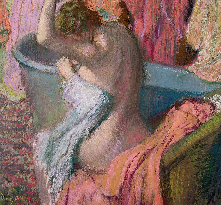 seated bather edgar degas