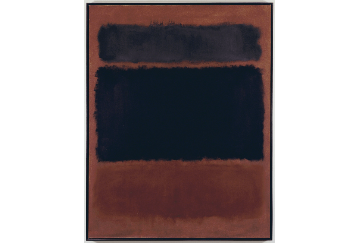 Mark Rothko Black in Deep Red 1957 Oil on canvas 69 25 × 53 710 in
