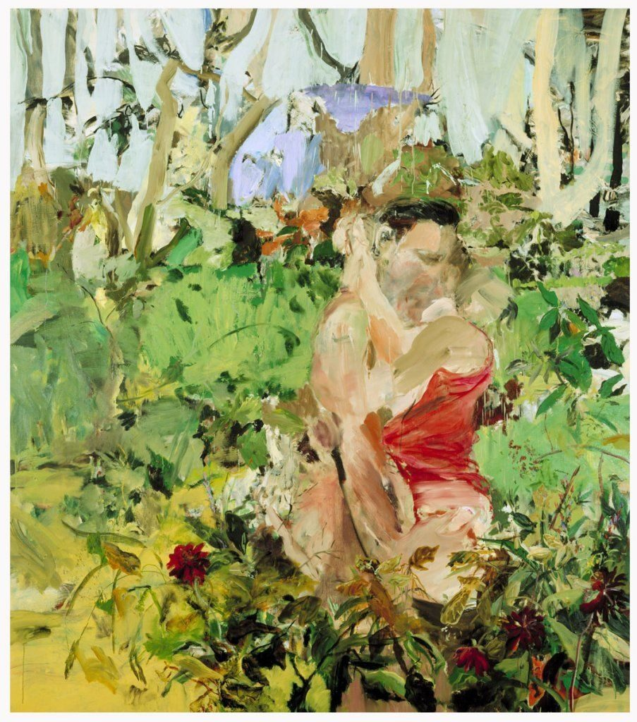 Couple Cecily Brown 2004 oil on linen. Image via CFA Berlin.