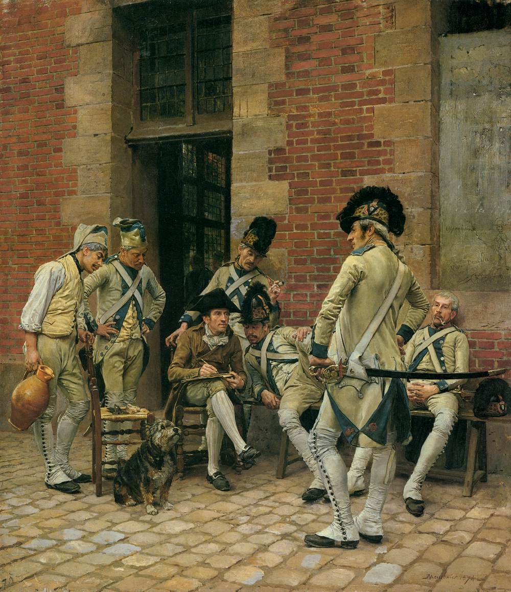 Jean Louis Ernest Meissonier   The Portrait of a Sergeant   WGA14740