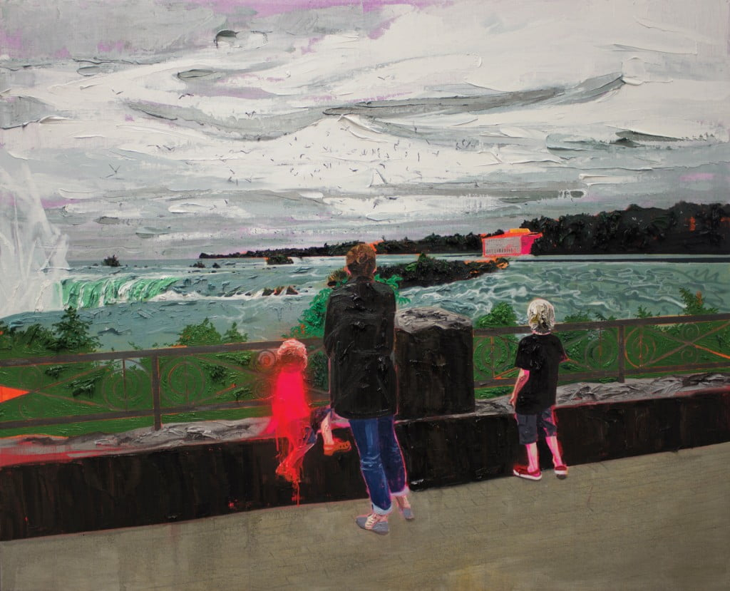 Kim Dorland Niagra Falls oil and acrylic on linen over wood panel 48x60 inches 2014