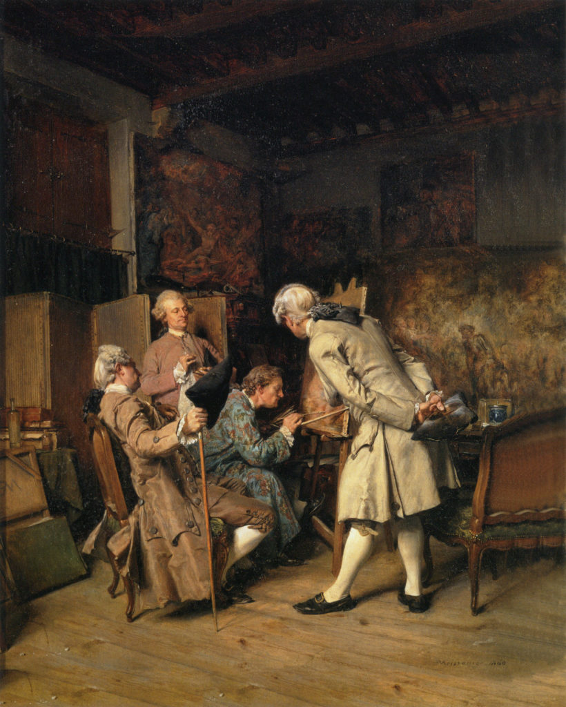 Meissonier Ernest The Lovers of Painting 1