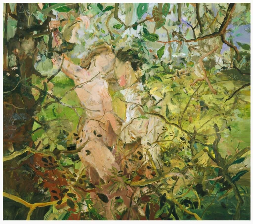 Teenage Wildlife Cecily Brown 2004 oil on linen. Image via CFA Berlin.