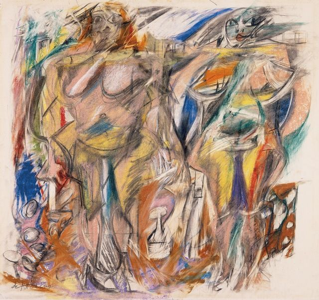 willem de kooning two women with still life