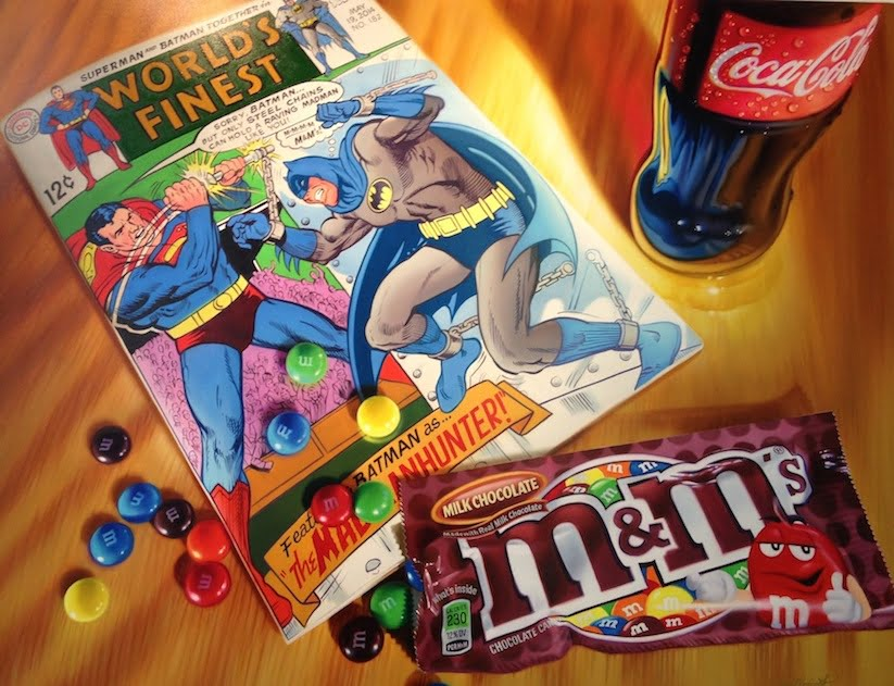 New Hyper Realistic Oil Paintings of Old School Snacks And Comics by Doug Bloodworth 2015 01