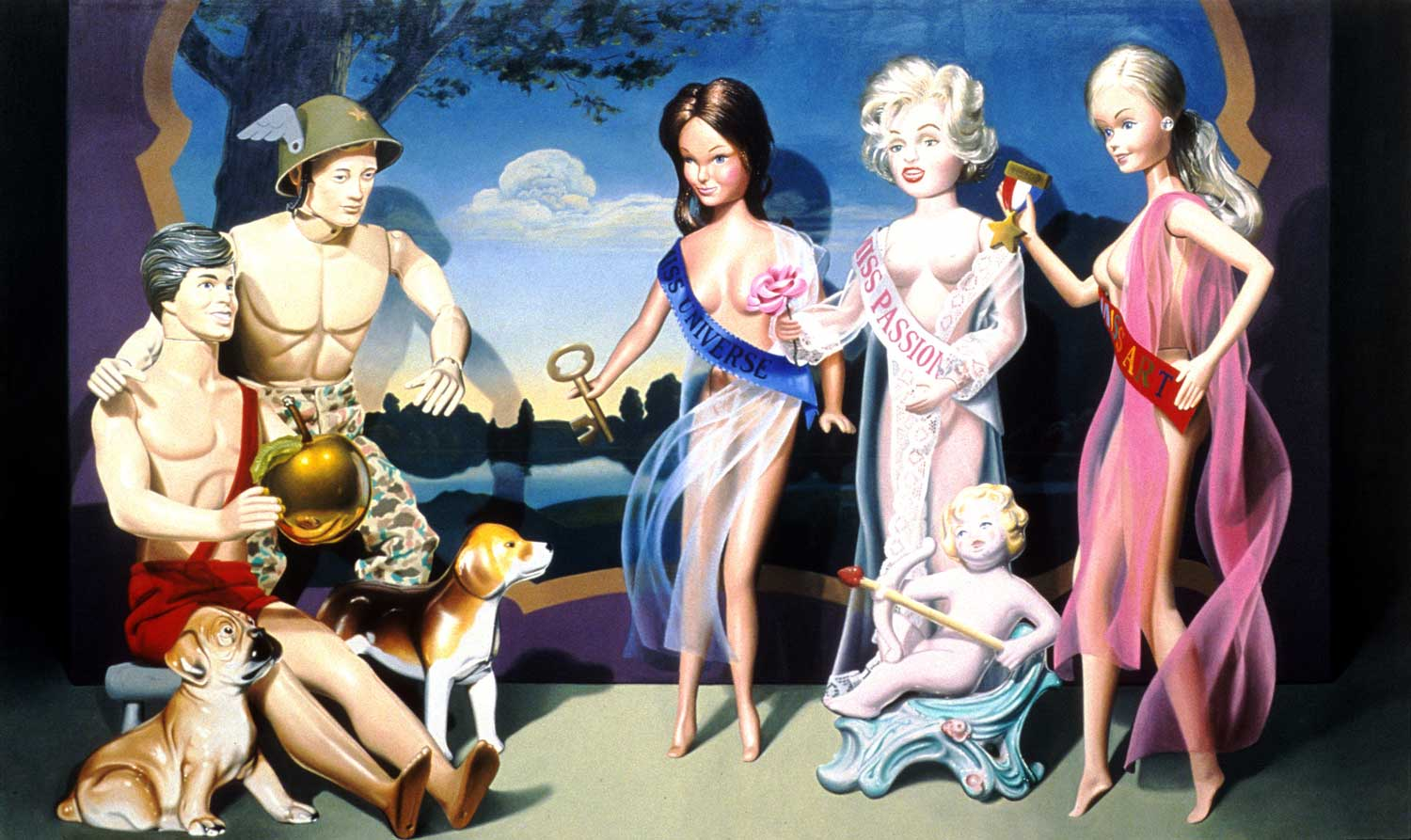 The Judgment of Paris 1986 Oil on canvas 72 × 120 in 182.9 × 304.8 cm