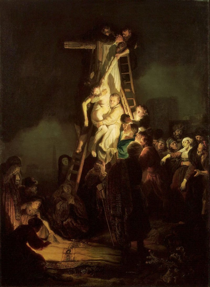 Descent from the Cross by Rembrandts workshop 1634 Hermitage