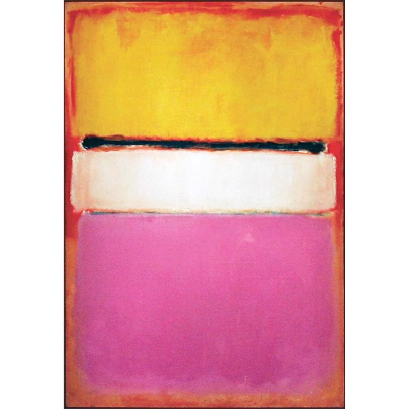 white center yellow pink and lavender on rose 1950 mark rothko