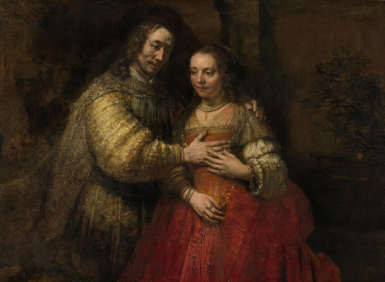 rembrandt harmensz  van rijn   het joodse bruidje