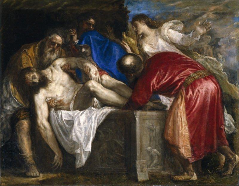 entierro de cristo tiziano