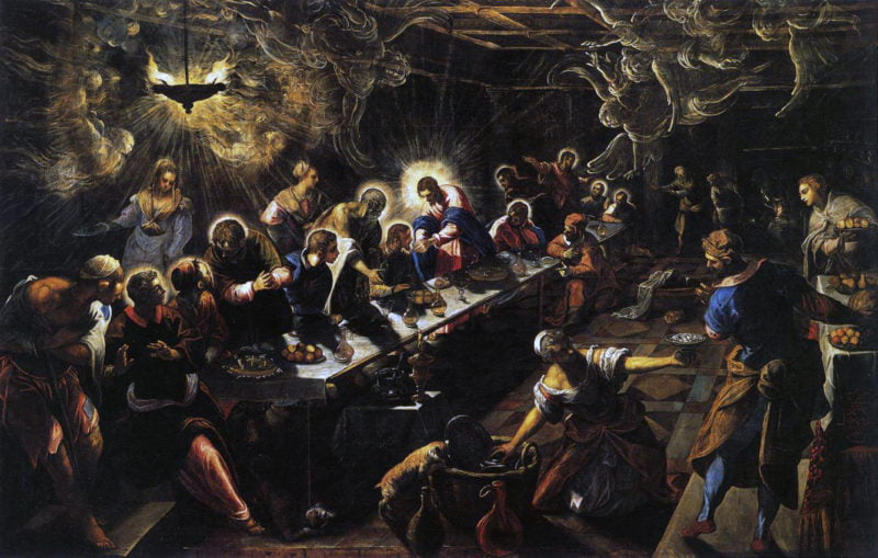 jacopo tintoretto   the last supper   wga22649