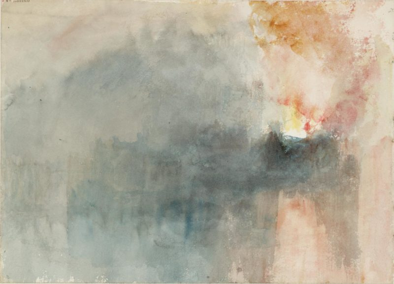 Pintura-abstracta-william-turner-Fire-at-the -Grand-Storehouse-of-the-Tower-of-London
