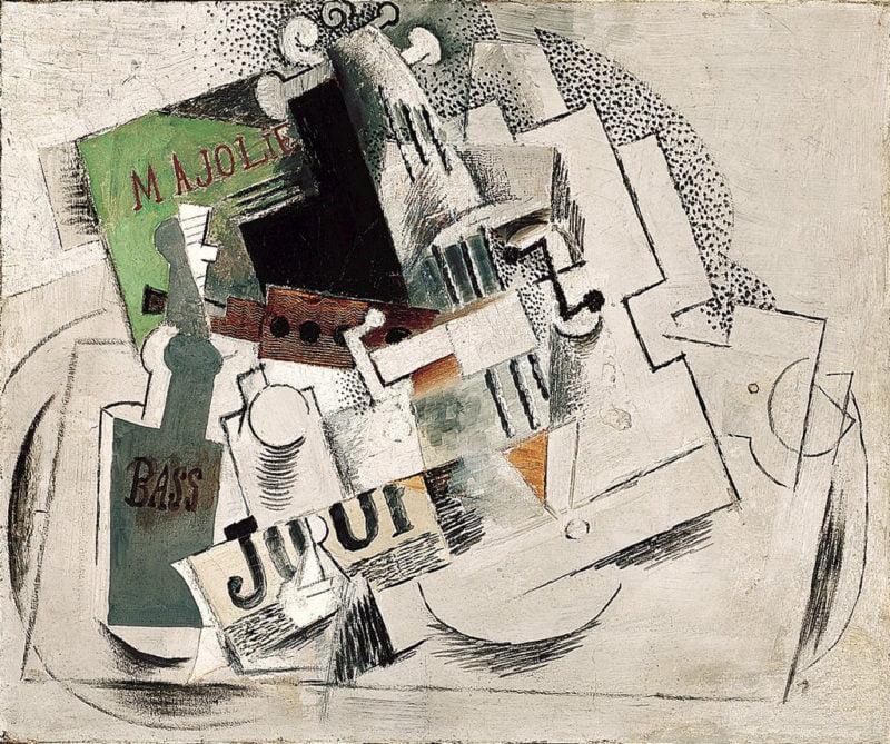 pintura-abstracta-Picasso-Ma-Jolie-Nature-Morte-Musique