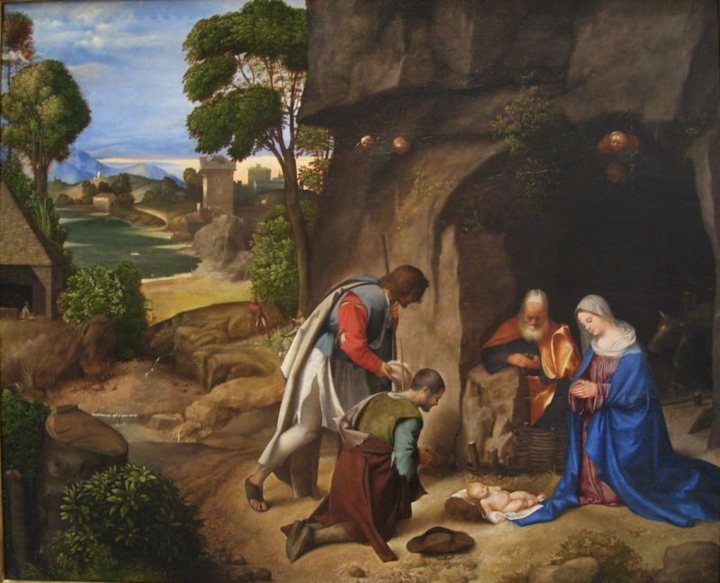the adoration of the shepherds   giorgione   1505 ng wash dc