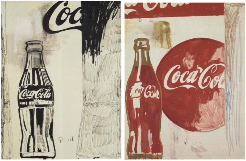 andy warhol coca cola 1961 casein and crayon on linen 176 5