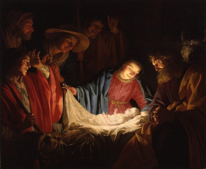 gerard van honthorst   adoration of the shepherds 1622