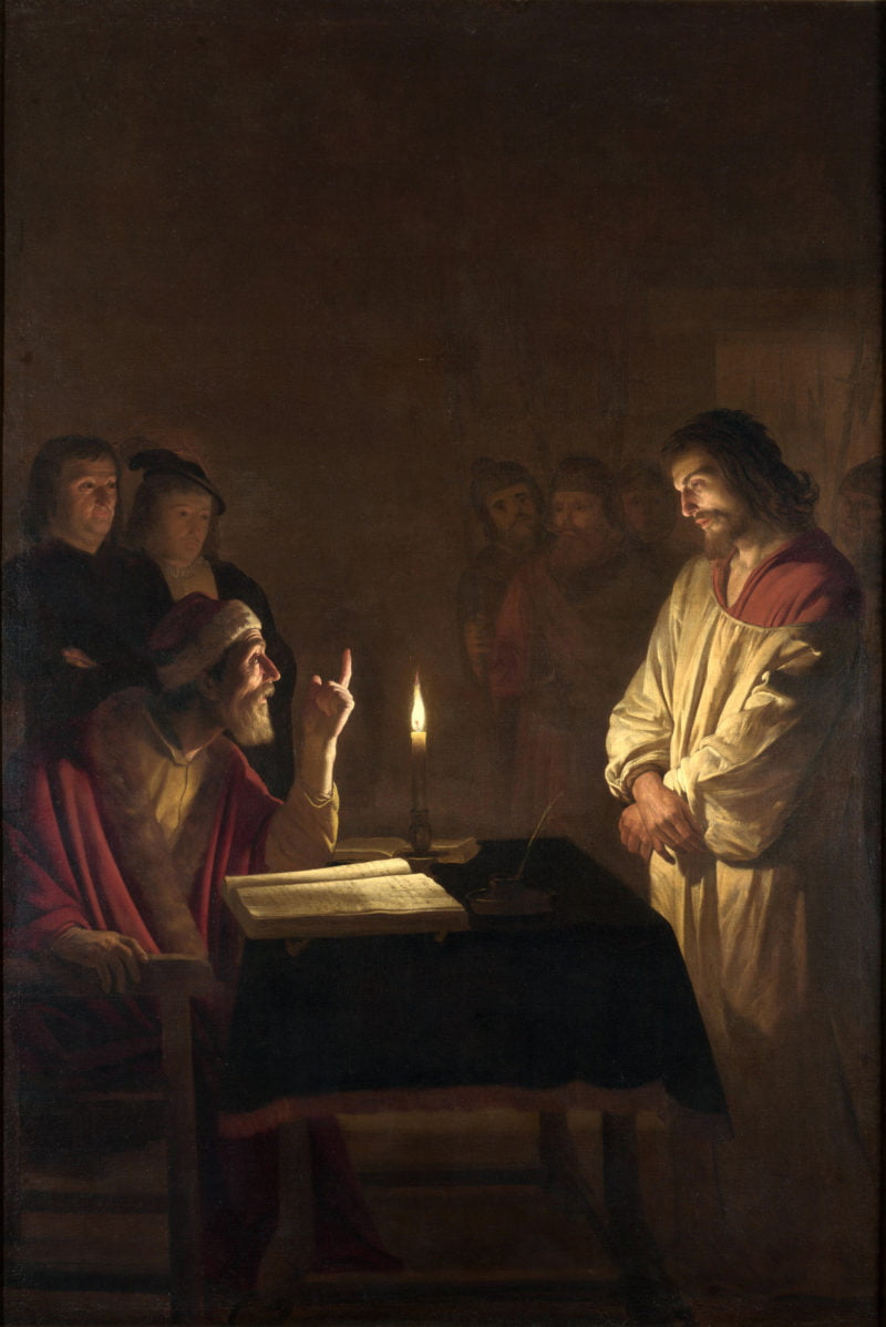 gerard van honthorst   christ before the high priest   wga11650
