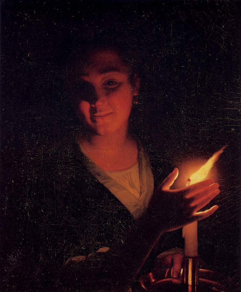 godfried schalcken young girl with a candle wga20944