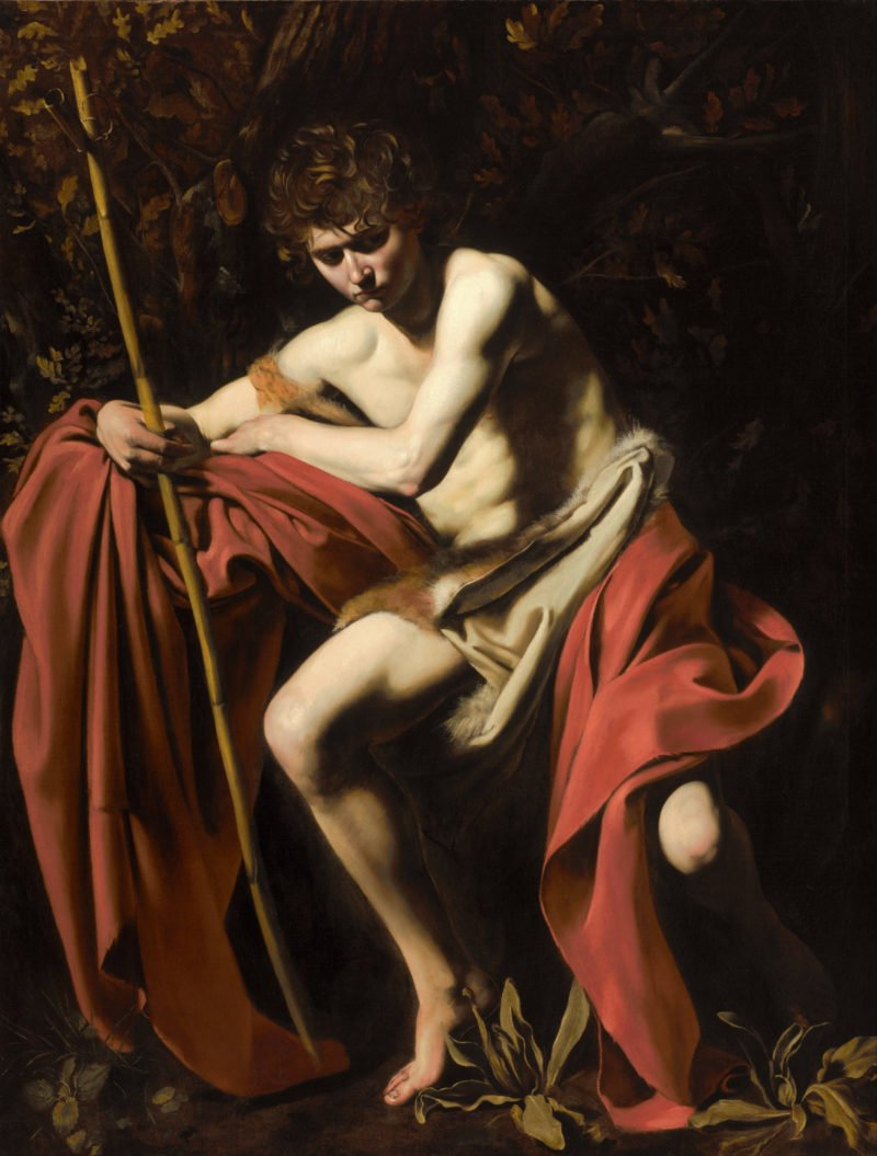 michelangelo merisi called caravaggio   saint john the baptist in the wilderness   google art project