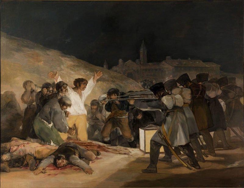 1165px el tres de mayo by francisco de goya from prado thin black margin
