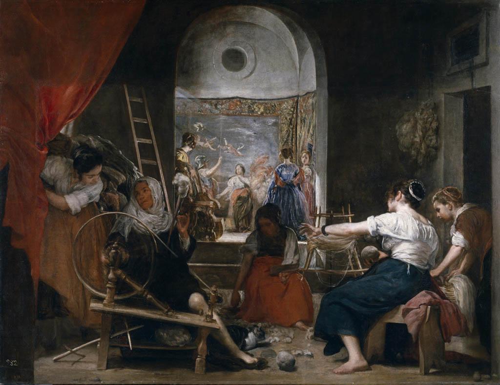 espacialidad-mediante-contrastes-Diego-de-Velázquez-la-mujer-en-el-trabajo