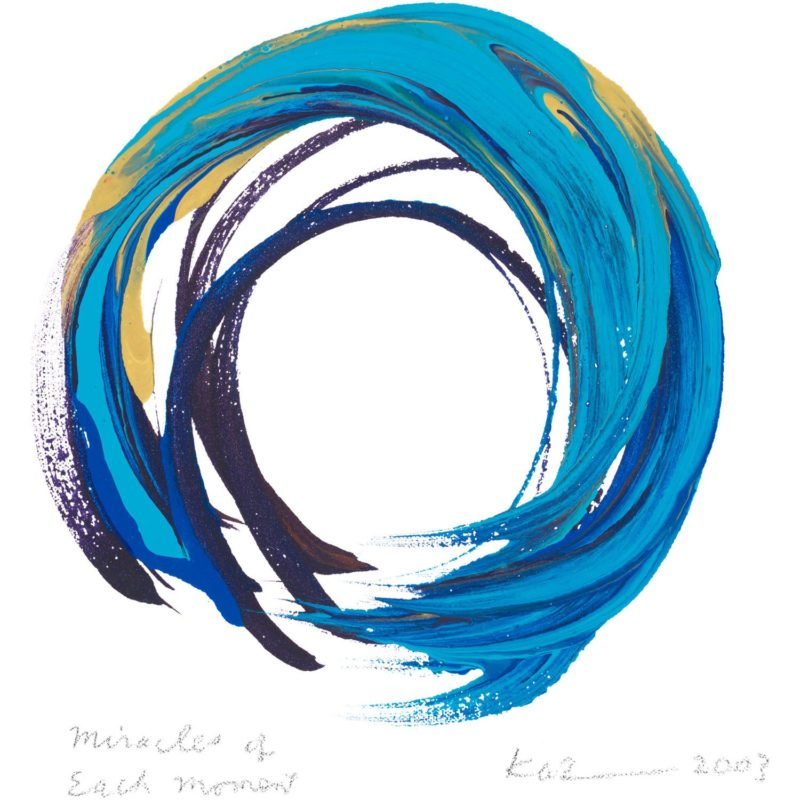 pintura-gestual-Kazuaki-Tanahashi-Ensō-Miracles-of-each-moment