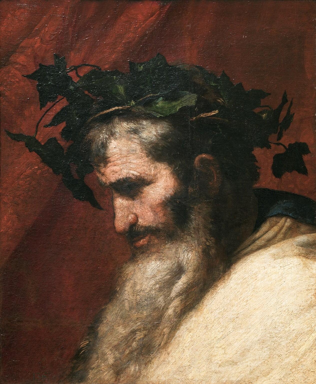 claroscuro-Jose-de-Ribera-detalle-cabeza-Dios-Baco