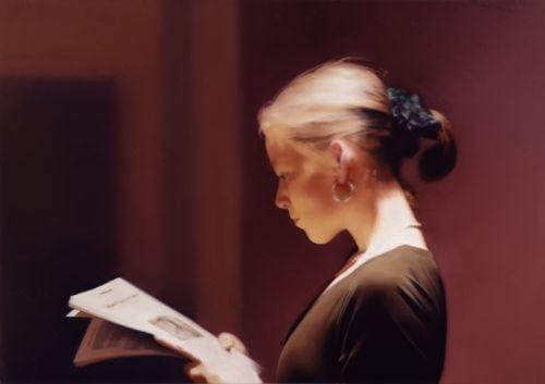 lesende reader 1994 72 cm x 102 cm catalogue raisonne 804 oil on canvas