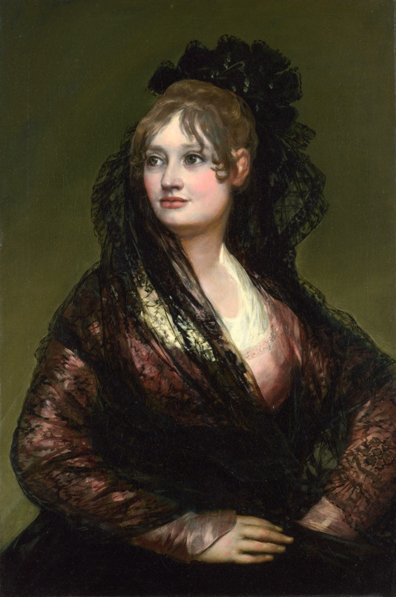 portrait of doncc83a isabel de porcel by francisco goya
