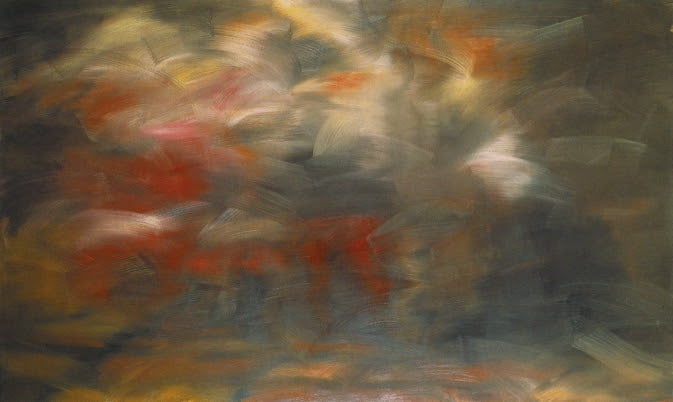 verkundigung nach tizian annunciation after titian 1973 150 cm x 250 cm catalogue raisonne 344 2 oil on canvas