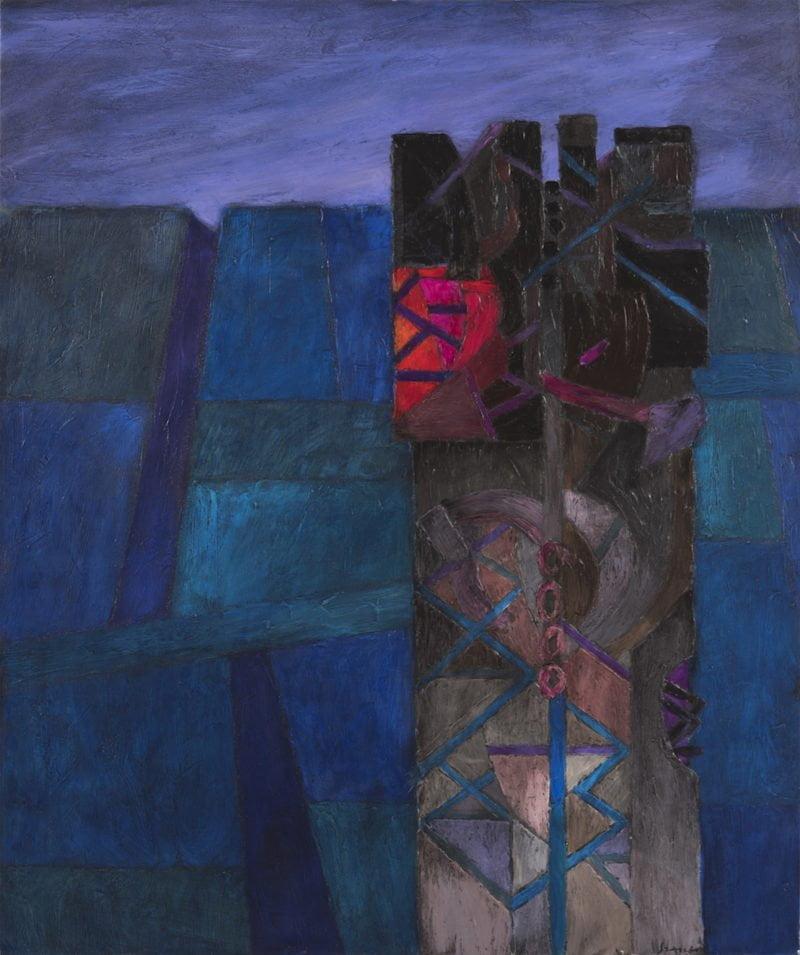 fernando de szyszlo 1925 trashumante acrylic on canvas 47 24 x 39 37 in 120 x 100 cm 2015