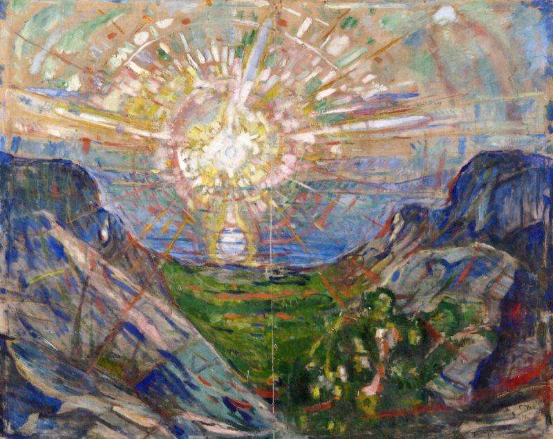 the athenaeum the sun edvard munch 1910