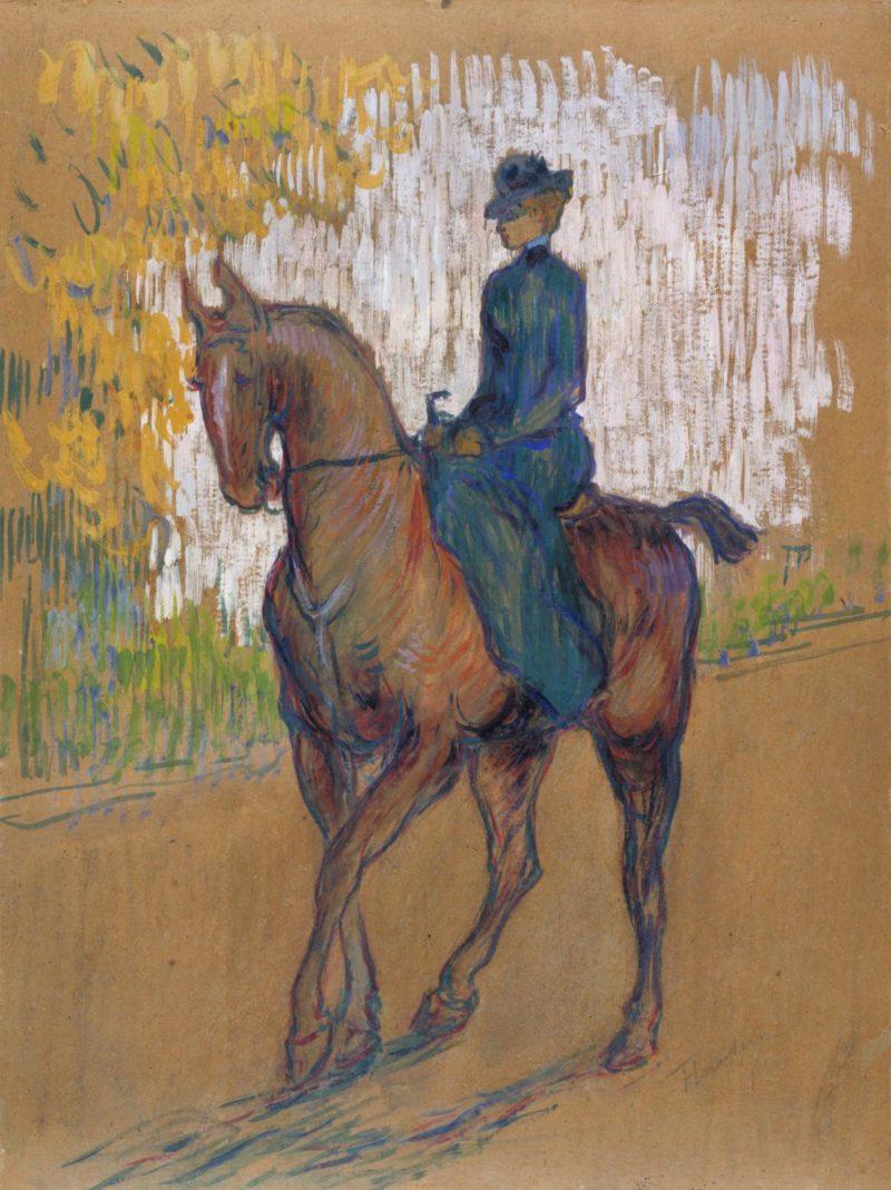 artwork page for side saddle henri de toulouse lautrec 1899