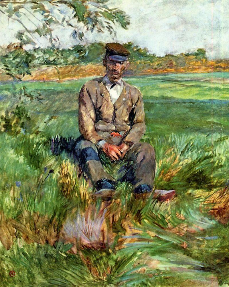 henri de toulouse lautrec a laborer at celeyran 1882