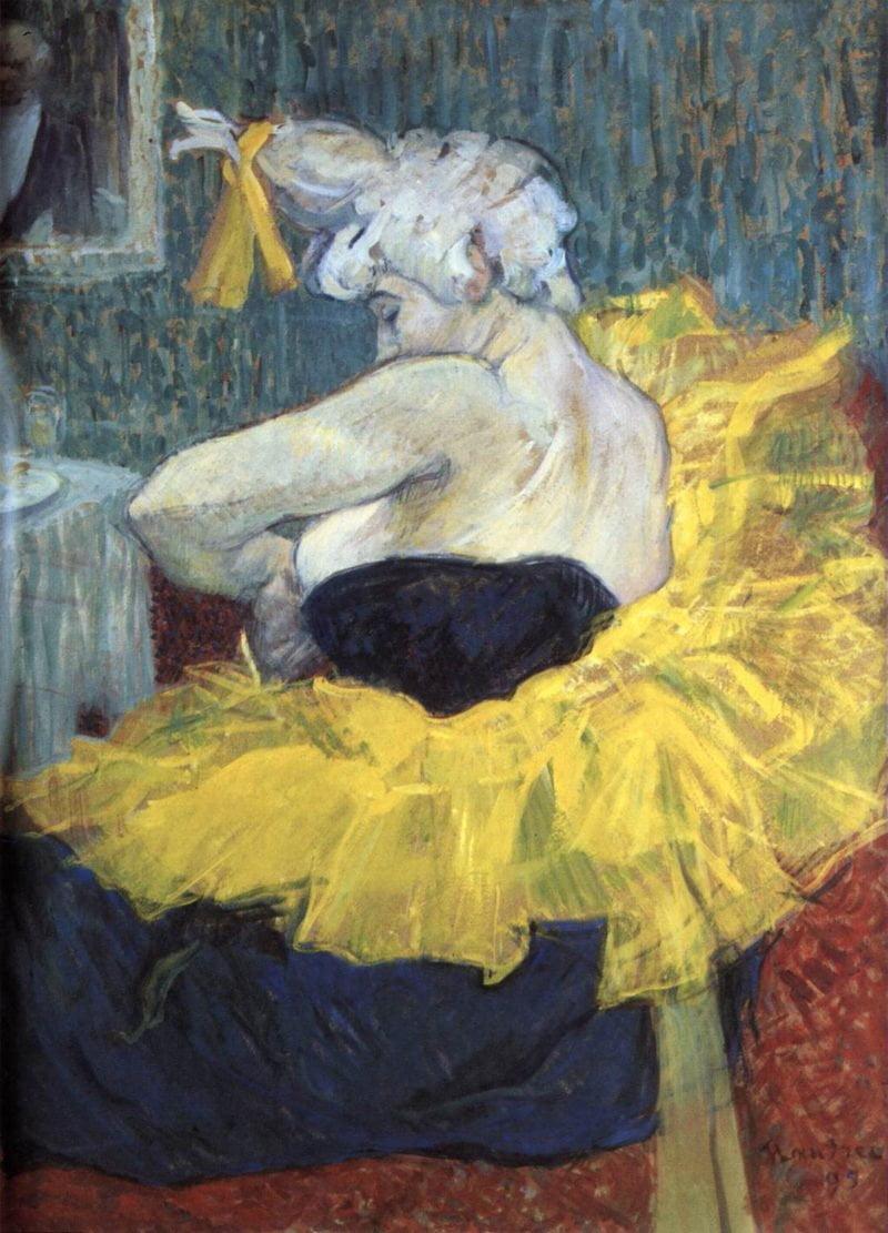 henri de toulouse lautrec the clown cha u kao at the moulin rouge