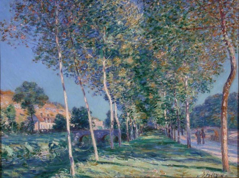 the lane of poplars at moret alfred sisley sartle see art differently