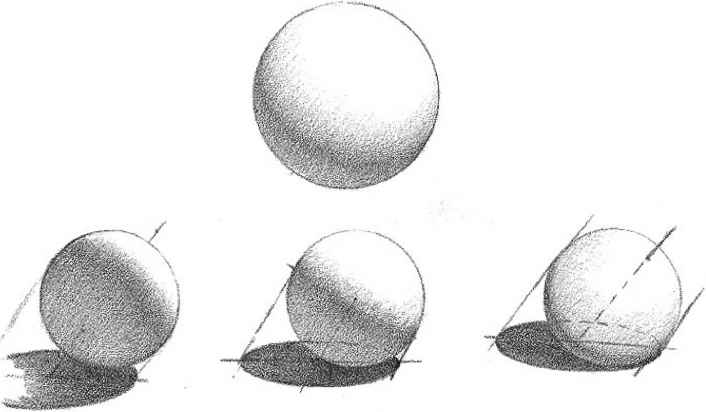 drawn spheric shadow 1