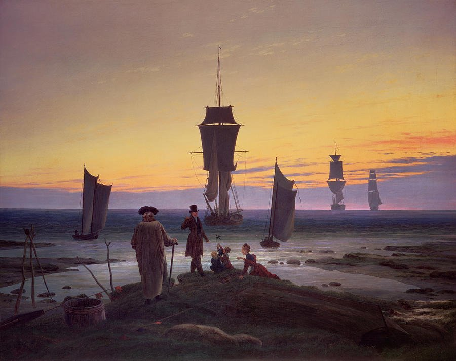 the stages of life painting by caspar david friedrich