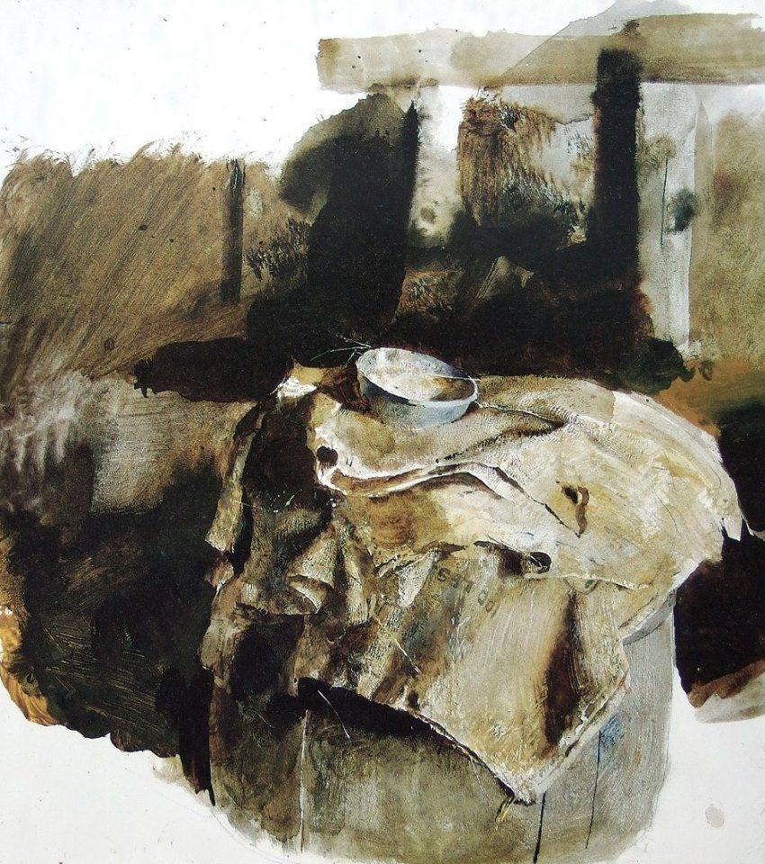 andrew wyeth 1917 2009 usa blue measure 1959 drybrush watercolor