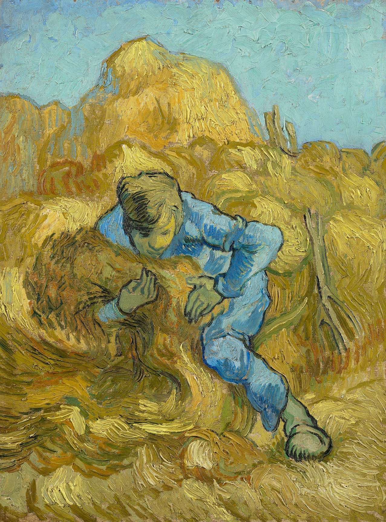 vincent van gogh the sheaf binder after millet 1889 courtesy of